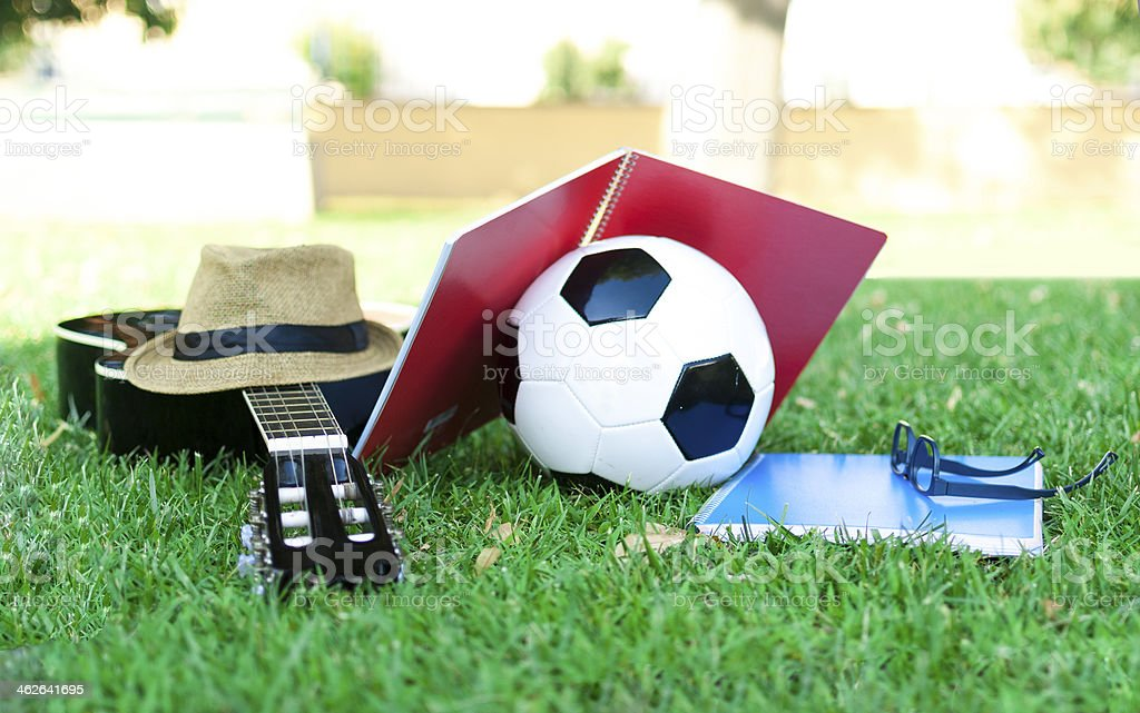 Leisure objects stock photo