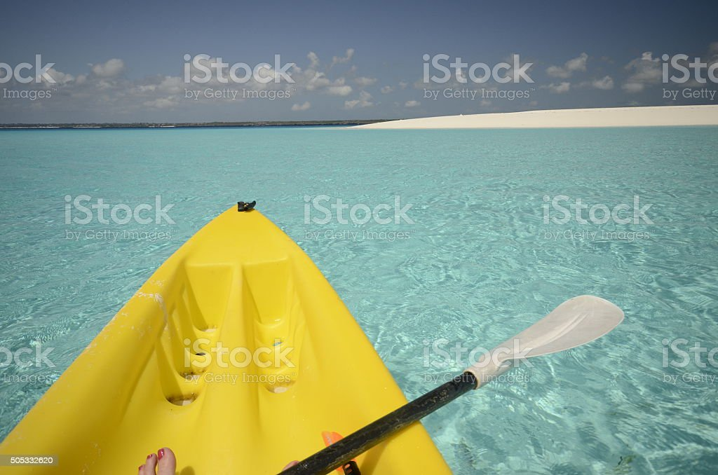 Leisure on Mnemba Island stock photo