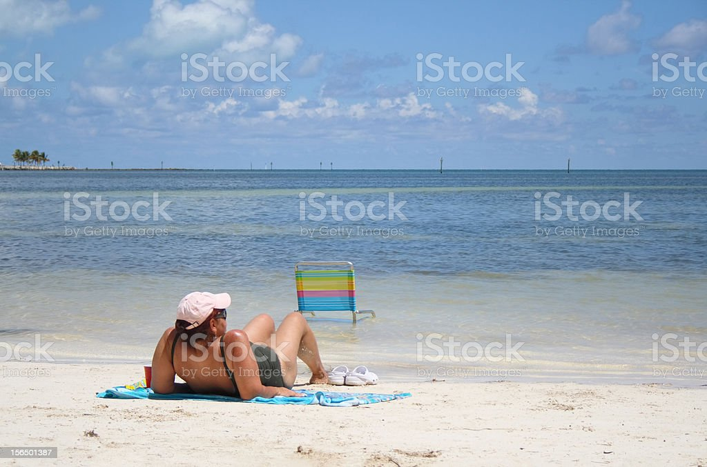 Leisure on the beach royalty-free stock photo