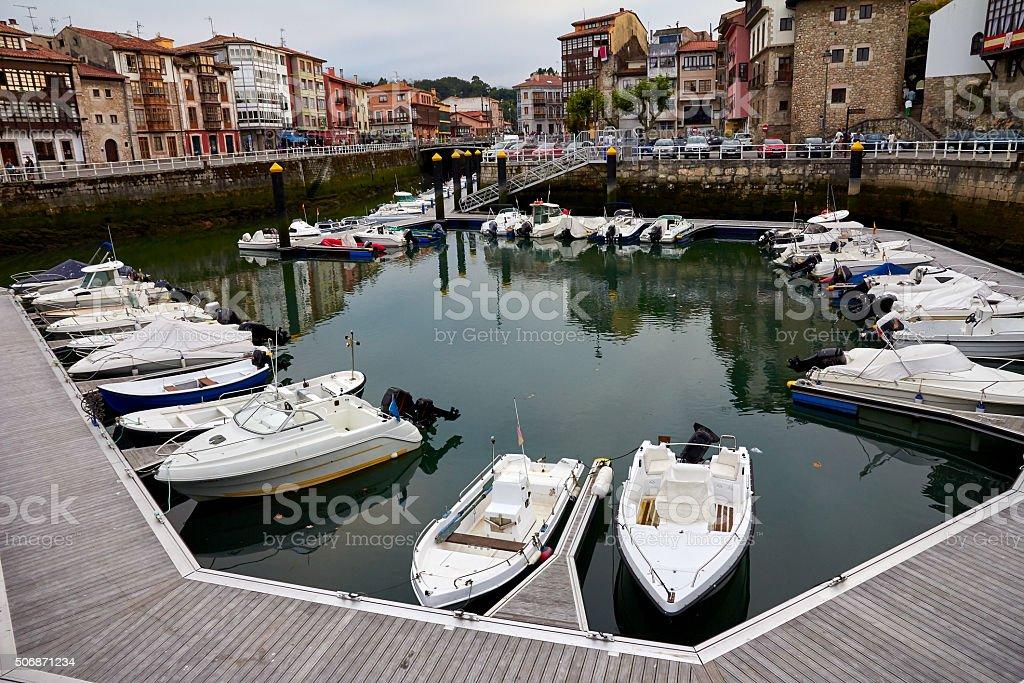 Leisure port, Asturias Spain stock photo