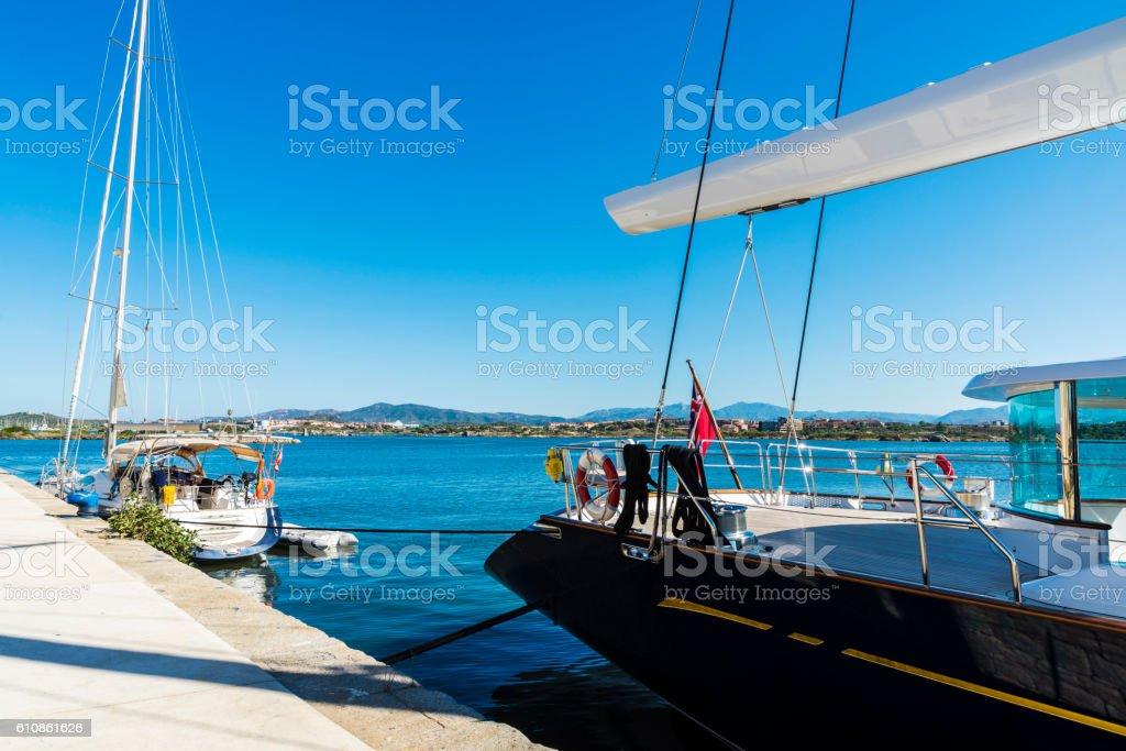 Leisure port in Olbia, Sardinia, Italy stock photo