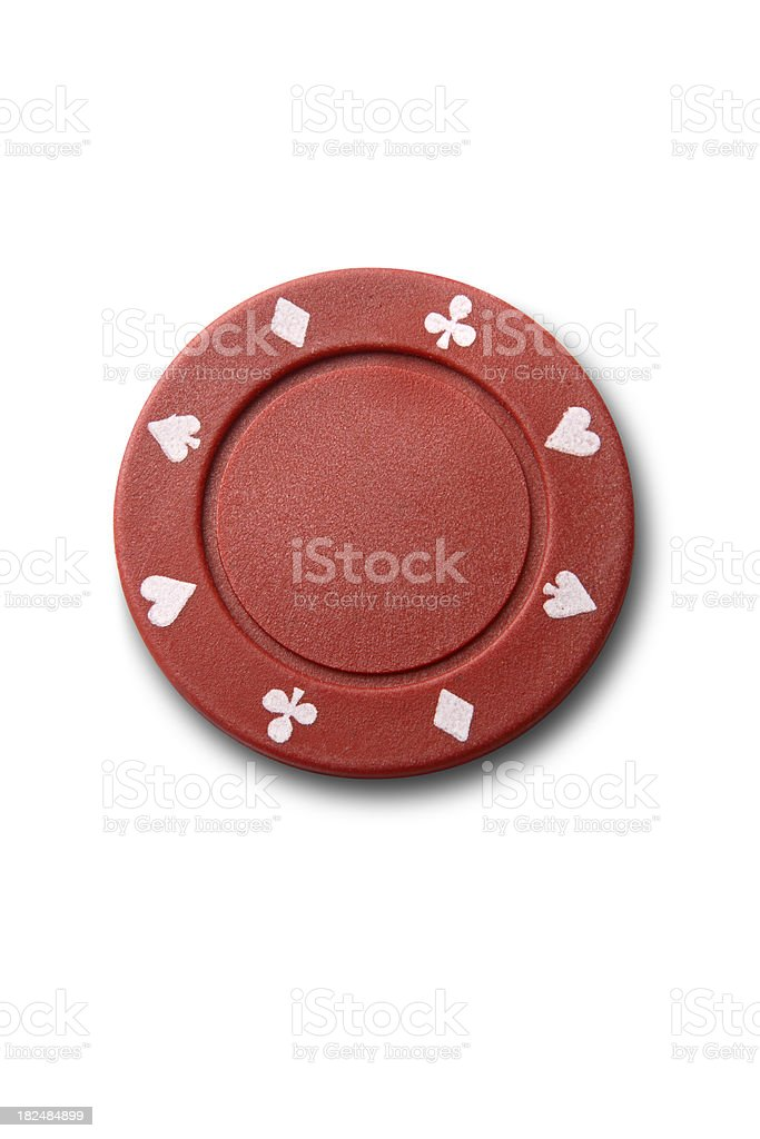 Leisure: Red Poker Chip stock photo