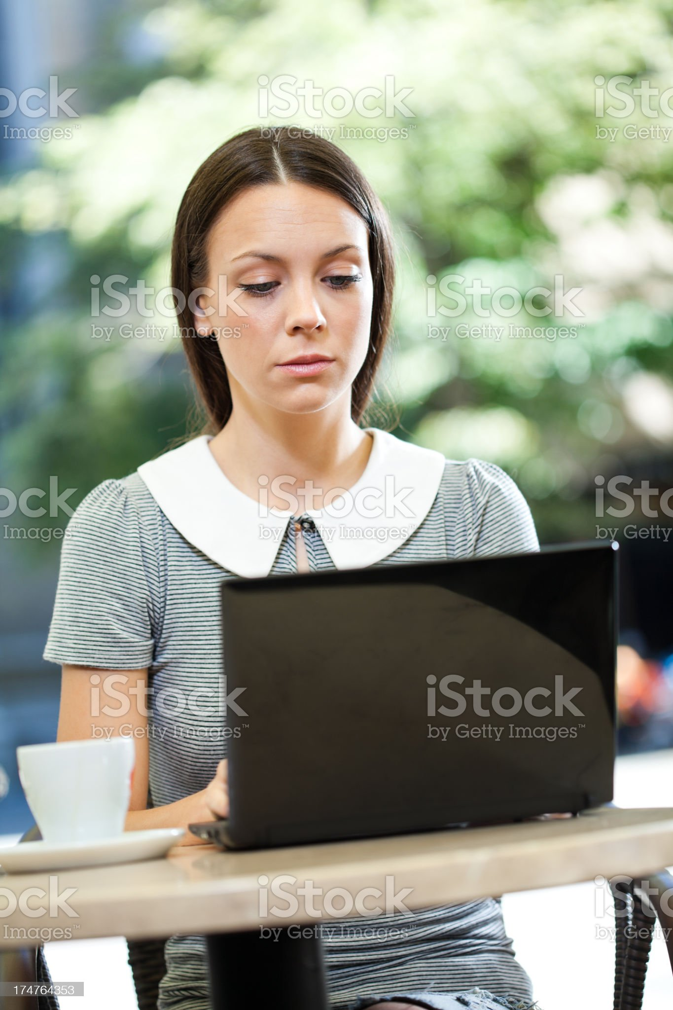 Leisure time in a cafe royalty-free stock photo