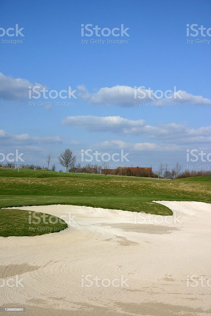 Leisure time - Playing golf royalty-free stock photo