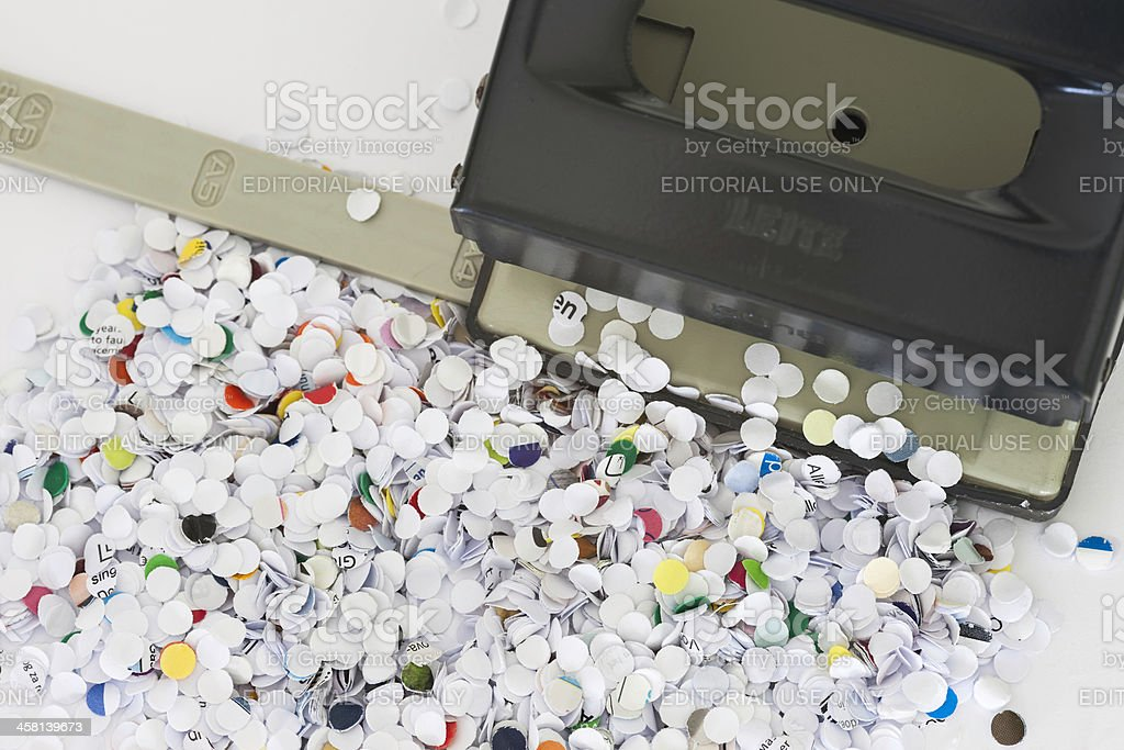 Leitz hole puncher close-up stock photo
