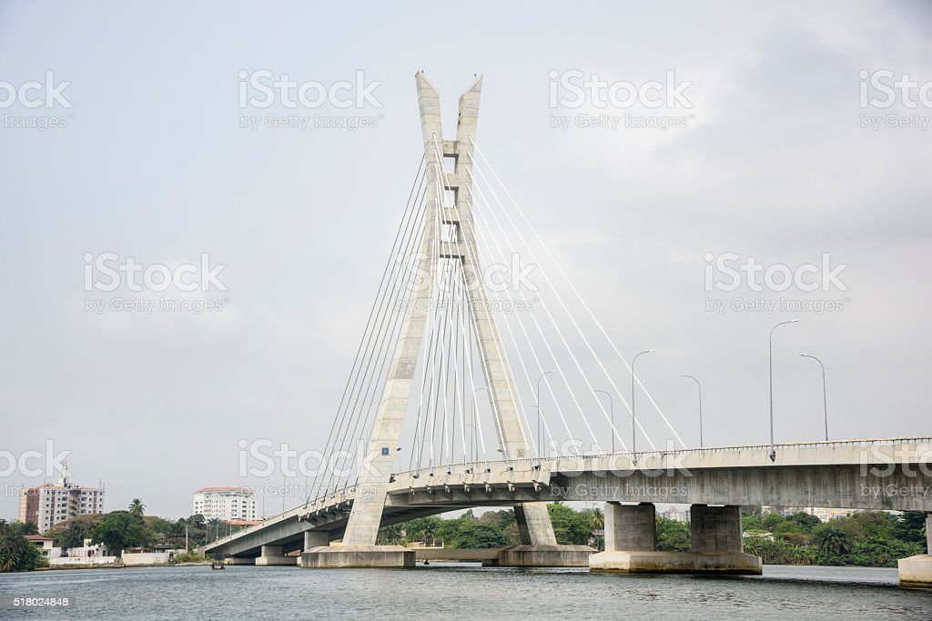 Lekki Ikoyi Link Bridge, Lagos, Nigeria stock photo