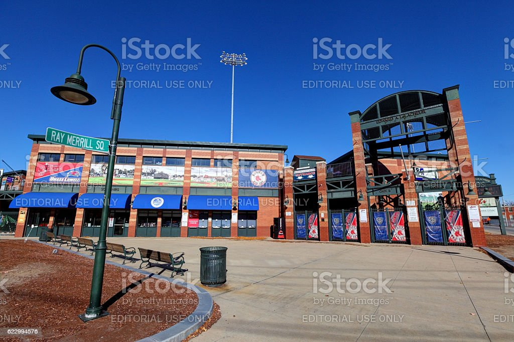LeLacheur Park in Lowell stock photo