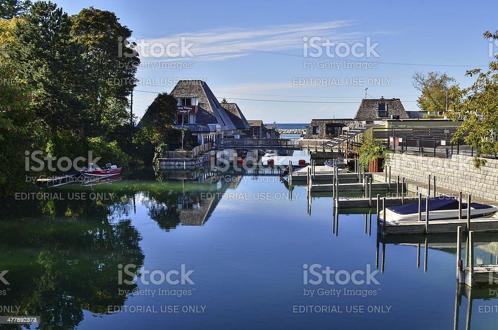 Leland Reflections stock photo
