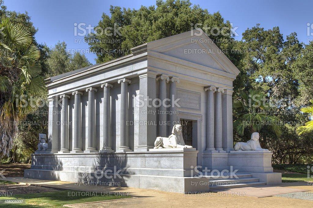 Leland Stanford Mausoleum stock photo
