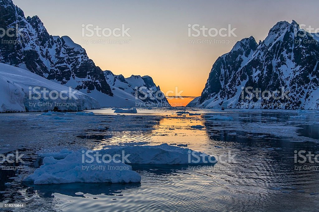 Lemaire Channel - Antarctica stock photo