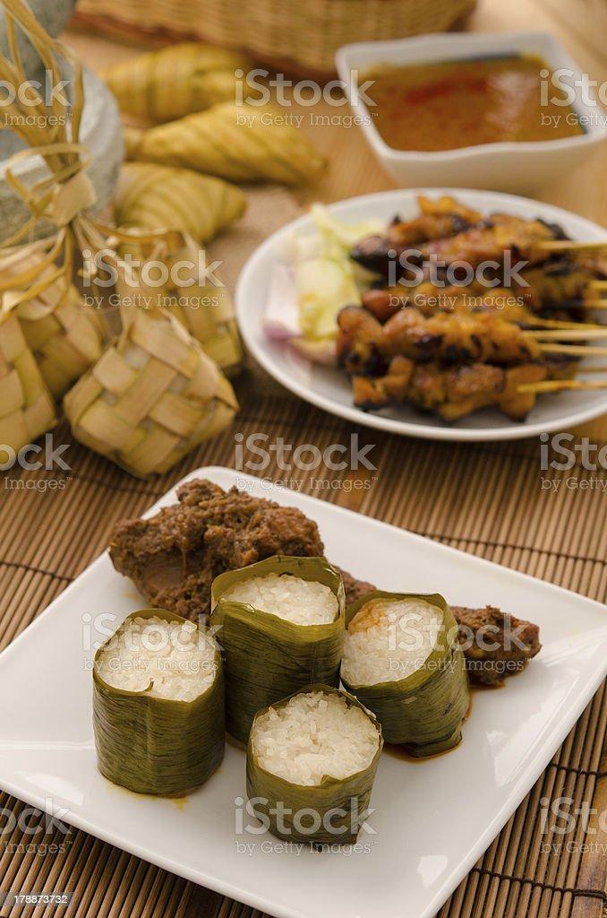 lemak lemang ,malay food during festival of hari raya stock photo