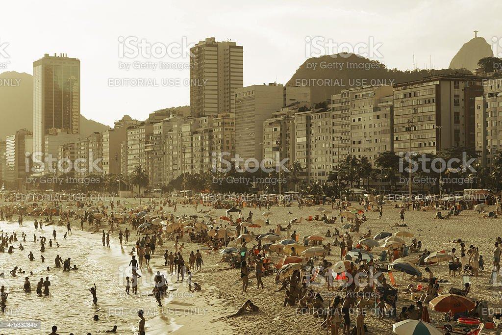 Leme Beach in Rio de Janeiro afternoon royalty-free stock photo