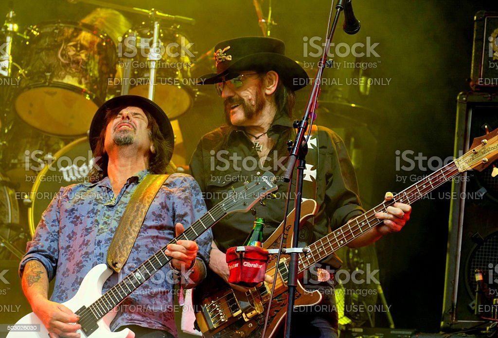 Lemmy Kilmister performing with Motorhead stock photo