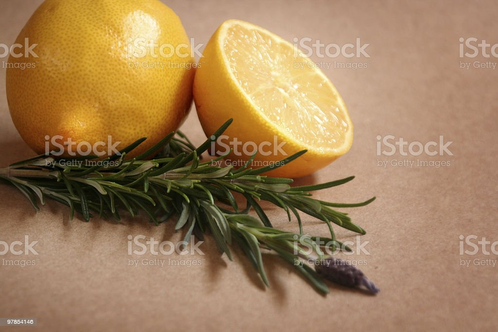 Lemon & Rosemary royalty-free stock photo