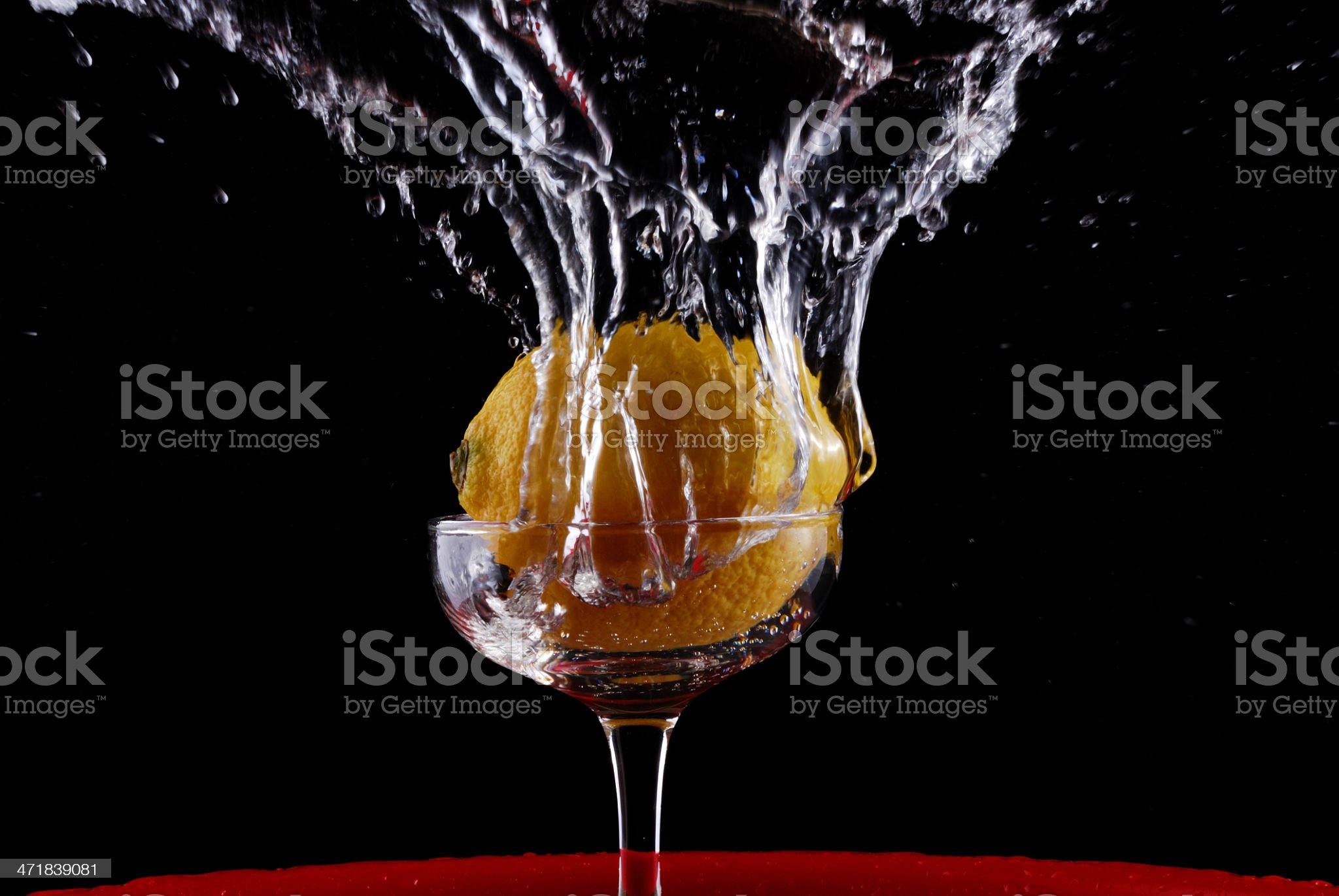 Lemon and cup royalty-free stock photo