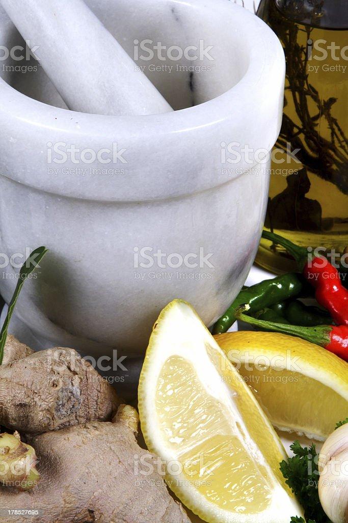 lemon and ginger royalty-free stock photo