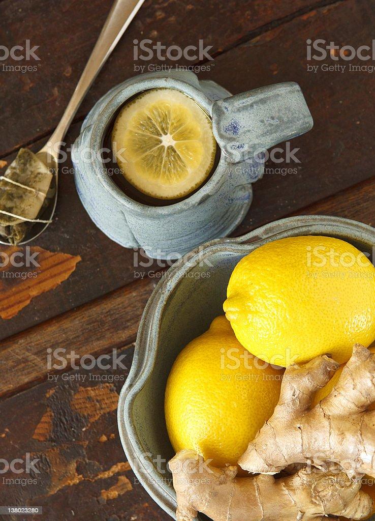 Lemon and Ginger Still Life royalty-free stock photo