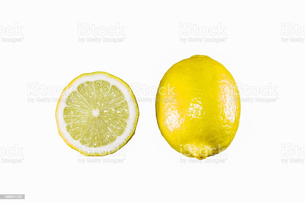 lemon and half isolated on the white background stock photo