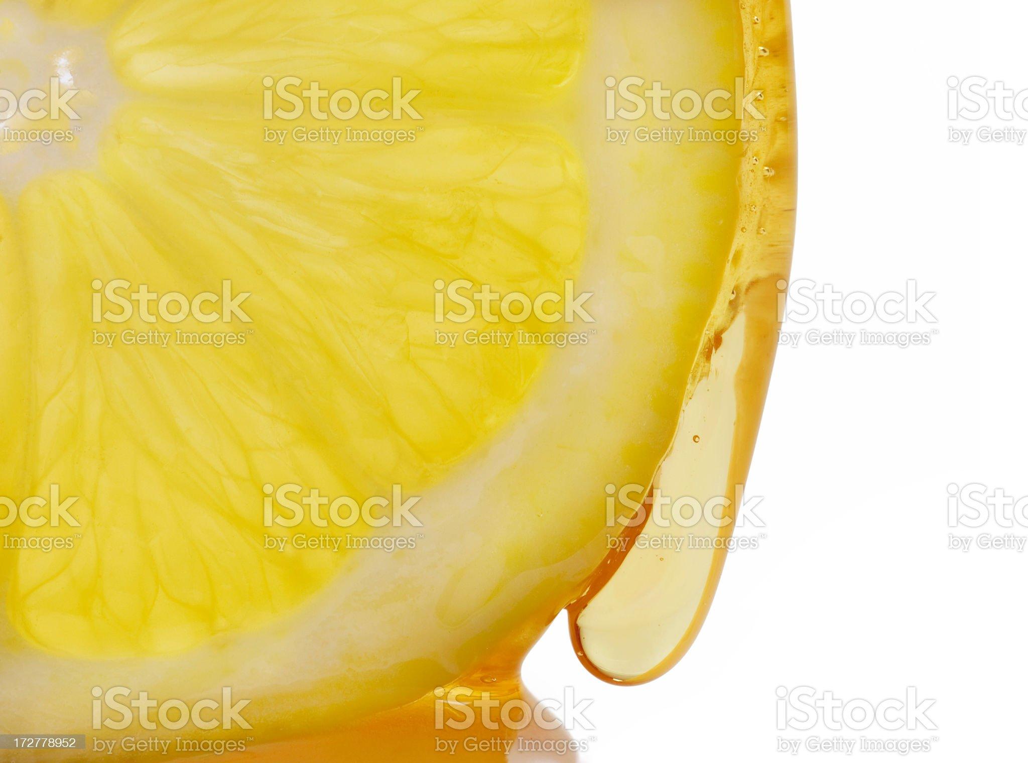 Lemon and Honey Drip royalty-free stock photo