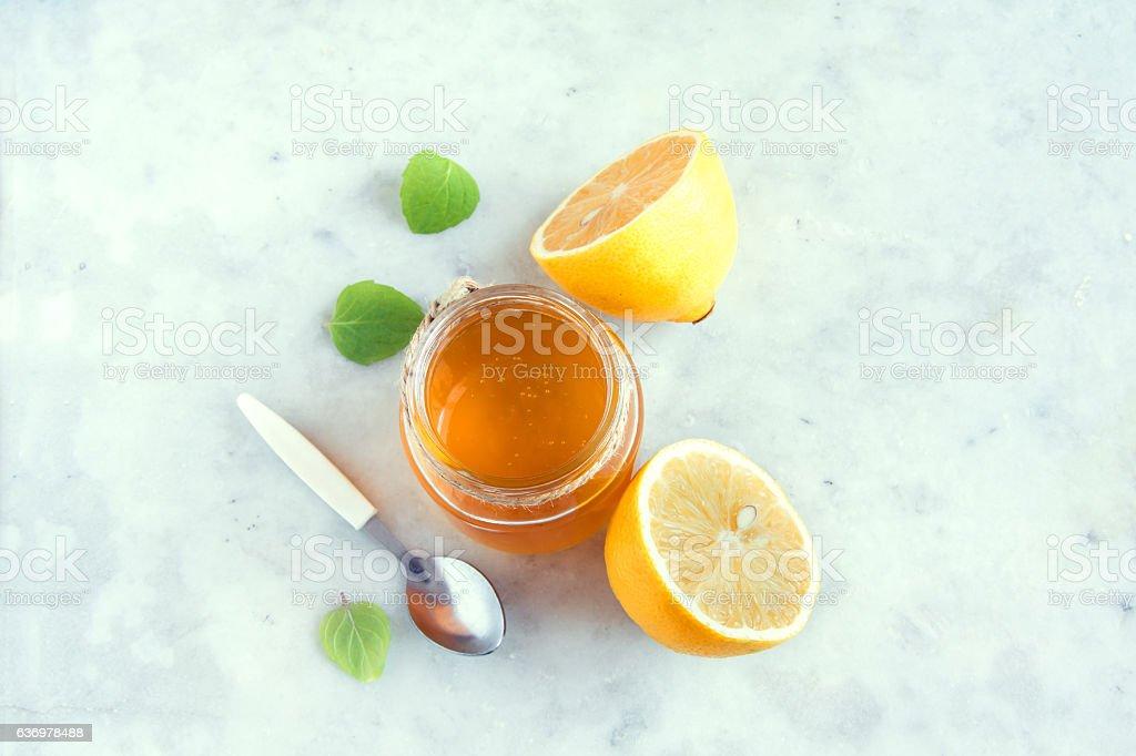 Lemon and honey stock photo