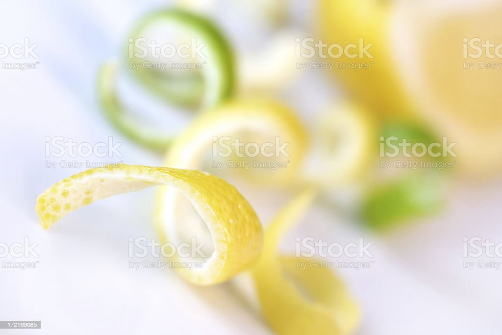 Lemon and Lime Peels stock photo