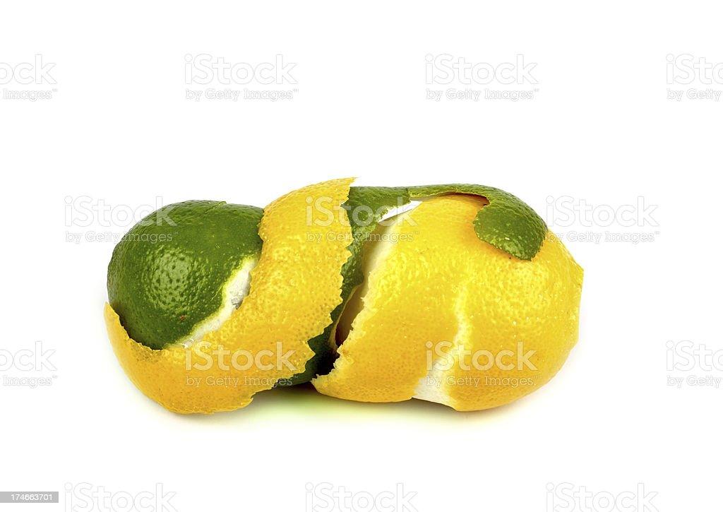 Lemon and lime royalty-free stock photo