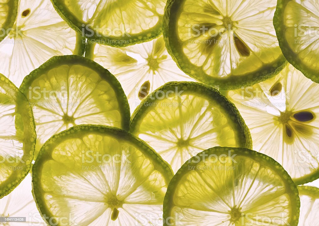 Lemon and lime slices royalty-free stock photo