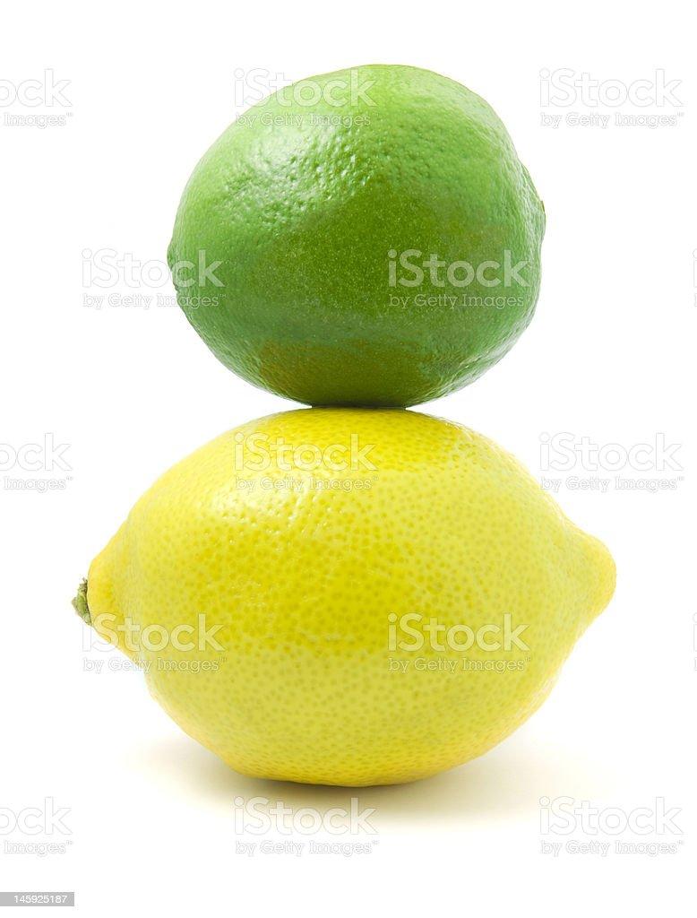 Citron et citron vert Stacked photo libre de droits