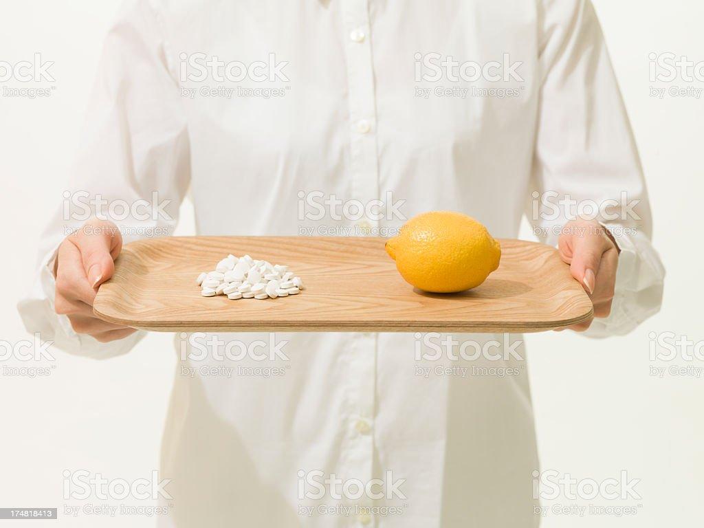 Lemon and medicine. royalty-free stock photo
