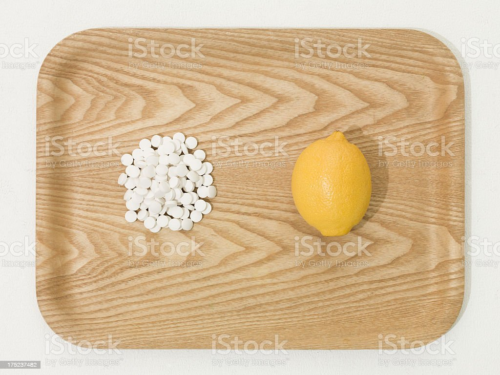 Lemon and medicine. royalty-free stock photo