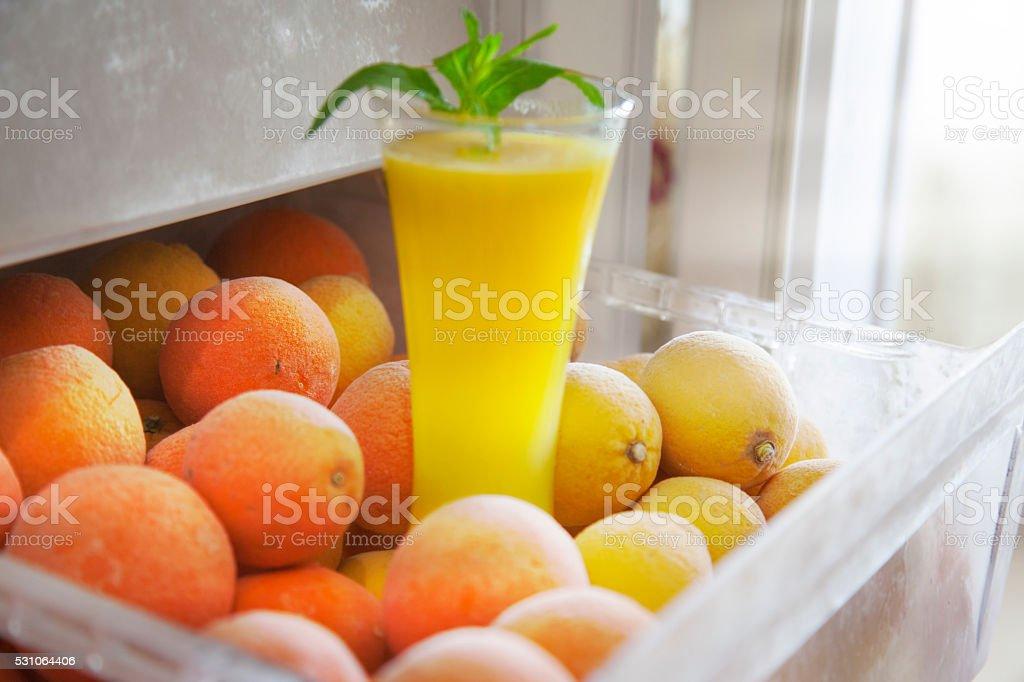 Lemon and orange citrus fruits stock photo