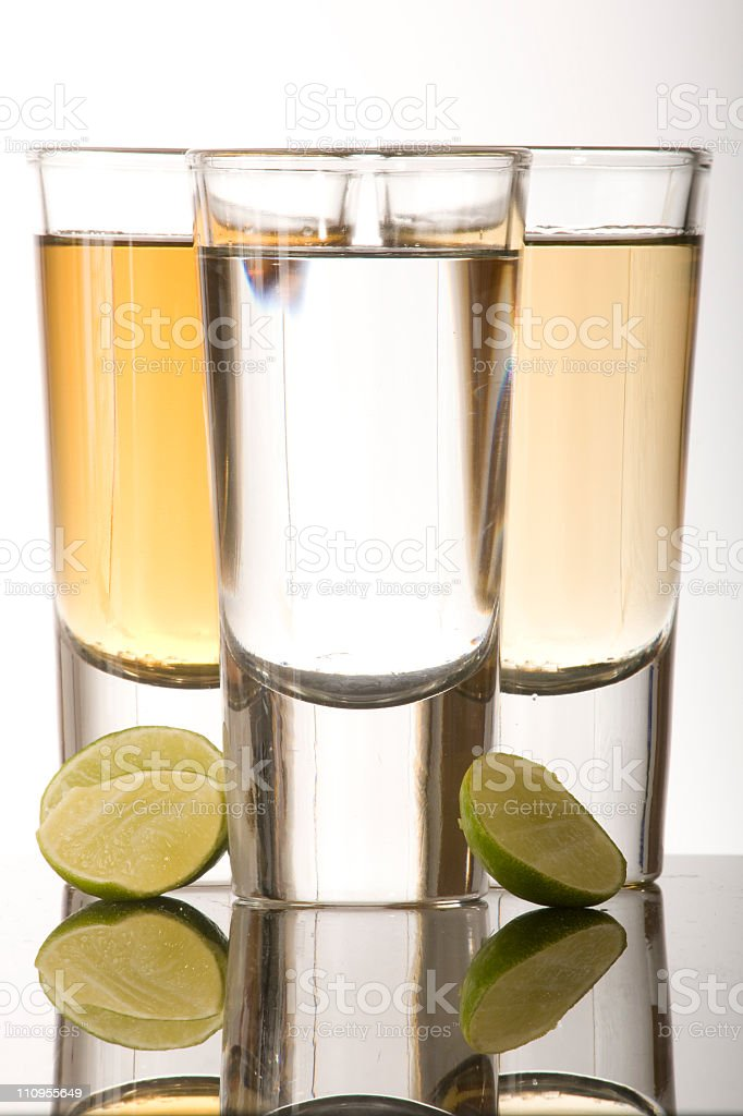 Lemon and tequila stock photo