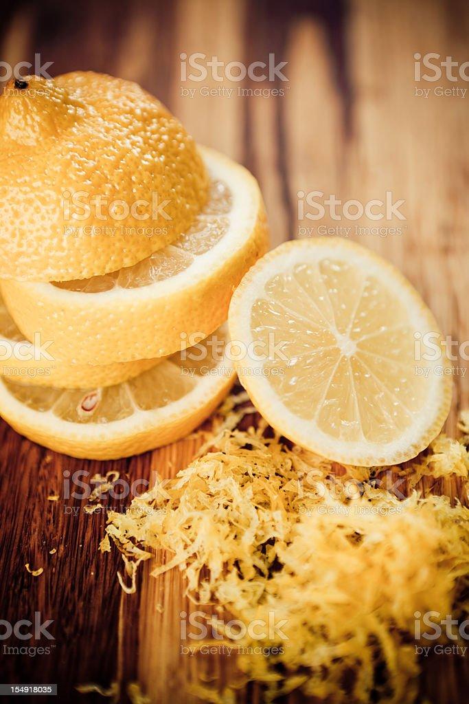 Lemon and zest. stock photo