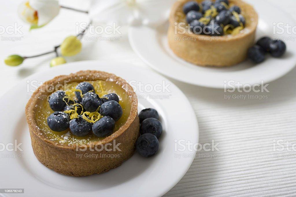 Lemon blueberry tart 1 royalty-free stock photo