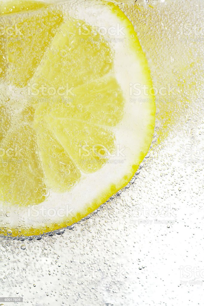 Lemon & Bubbles royalty-free stock photo
