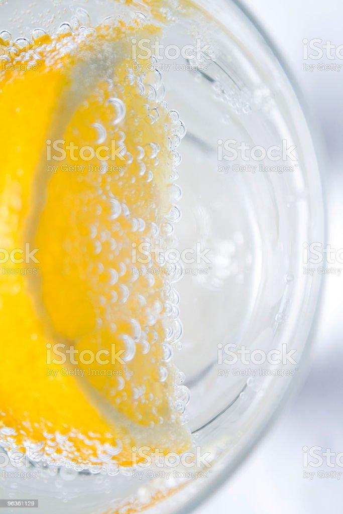 Lemon & Bubbles royalty-free stock photo