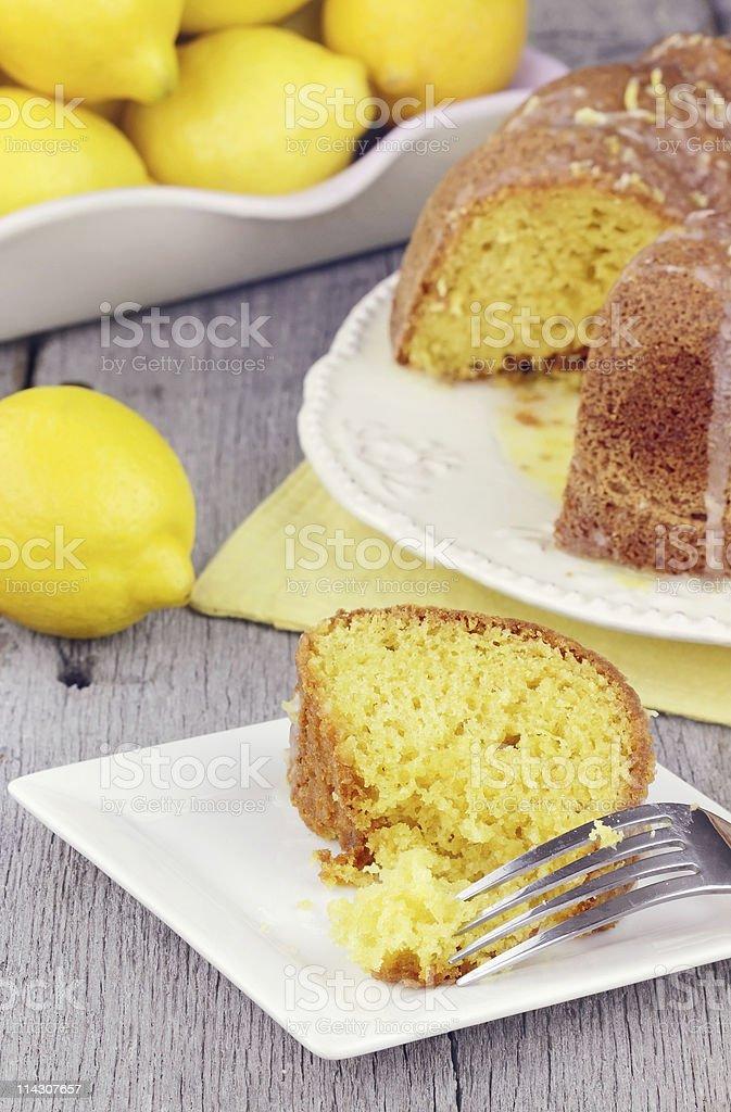 Lemon Bundt Cake stock photo