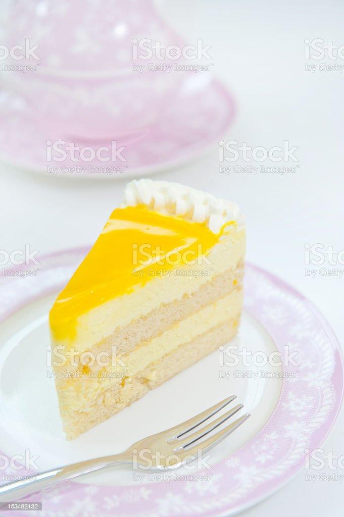 Lemon cheesecake stock photo