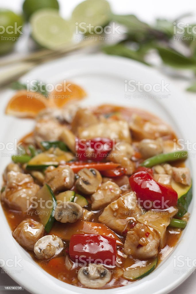 lemon chicken stock photo