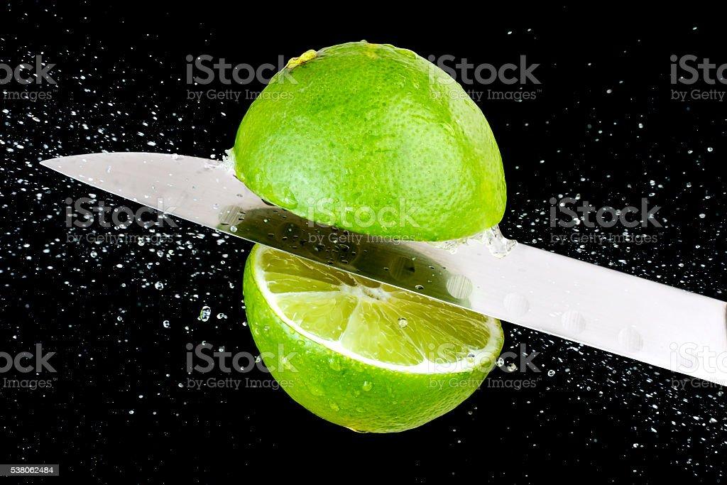 Lemon chopped stock photo