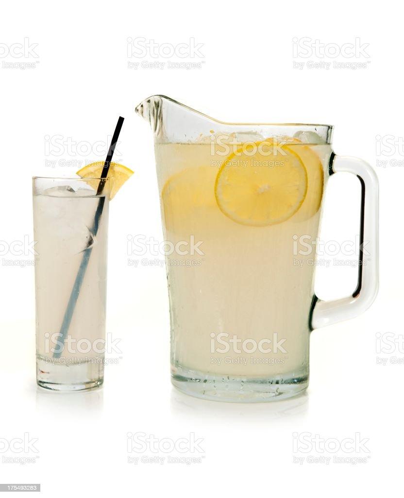 Lemon Cocktail Pitcher royalty-free stock photo