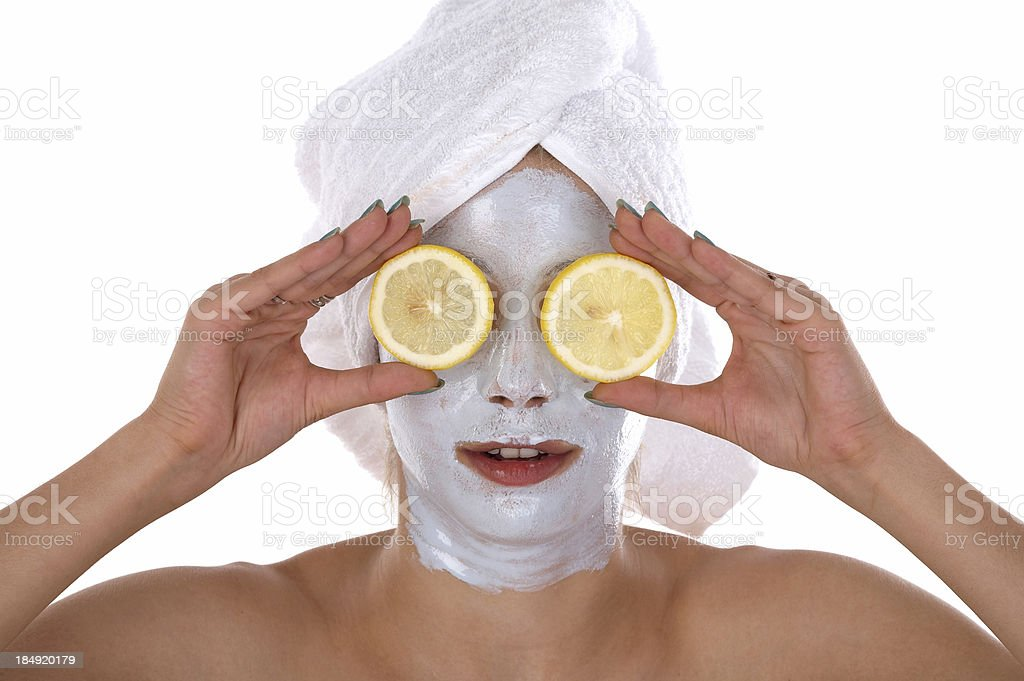 Lemon cosmetic stock photo