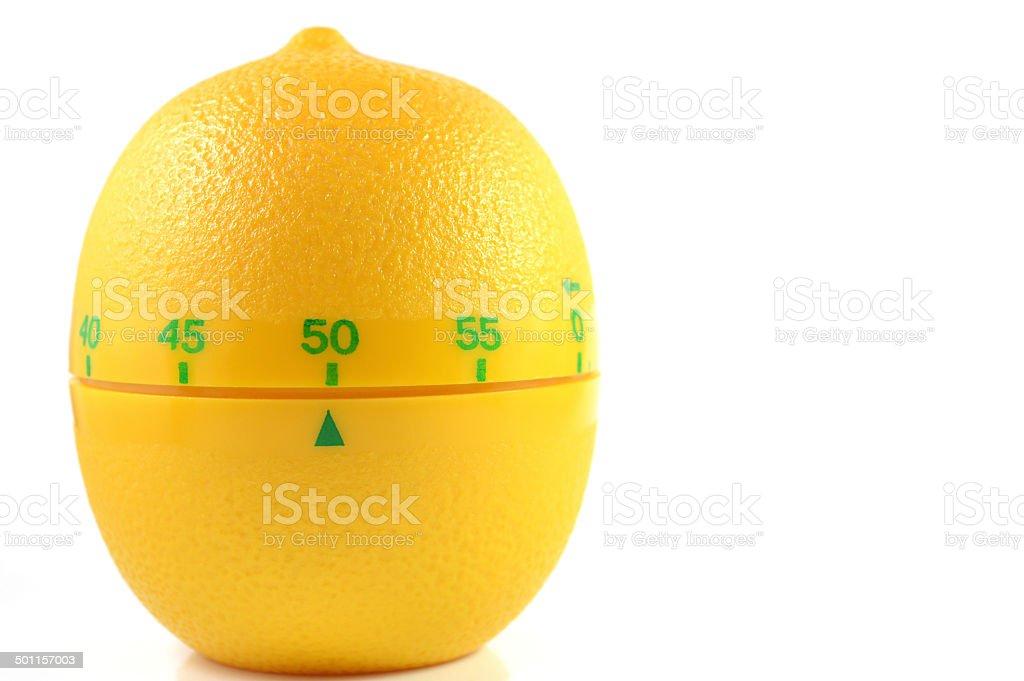 Lemon countdown timer stock photo