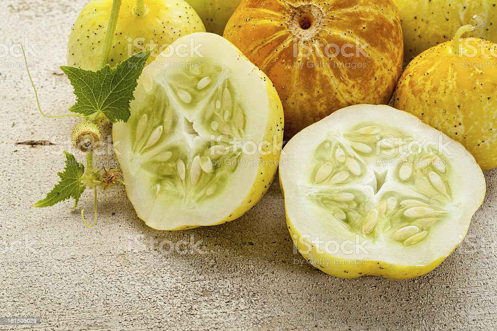 lemon cucumbers royalty-free stock photo