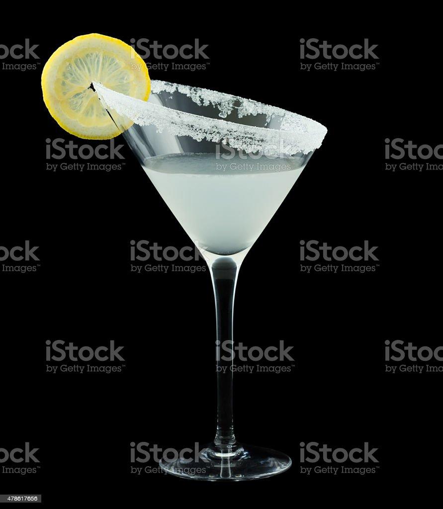 Lemon Drop Martini Cocktail stock photo