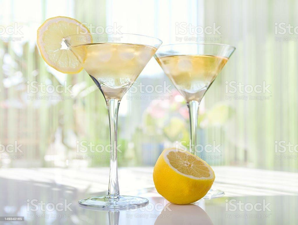 Lemon Drop Martini stock photo