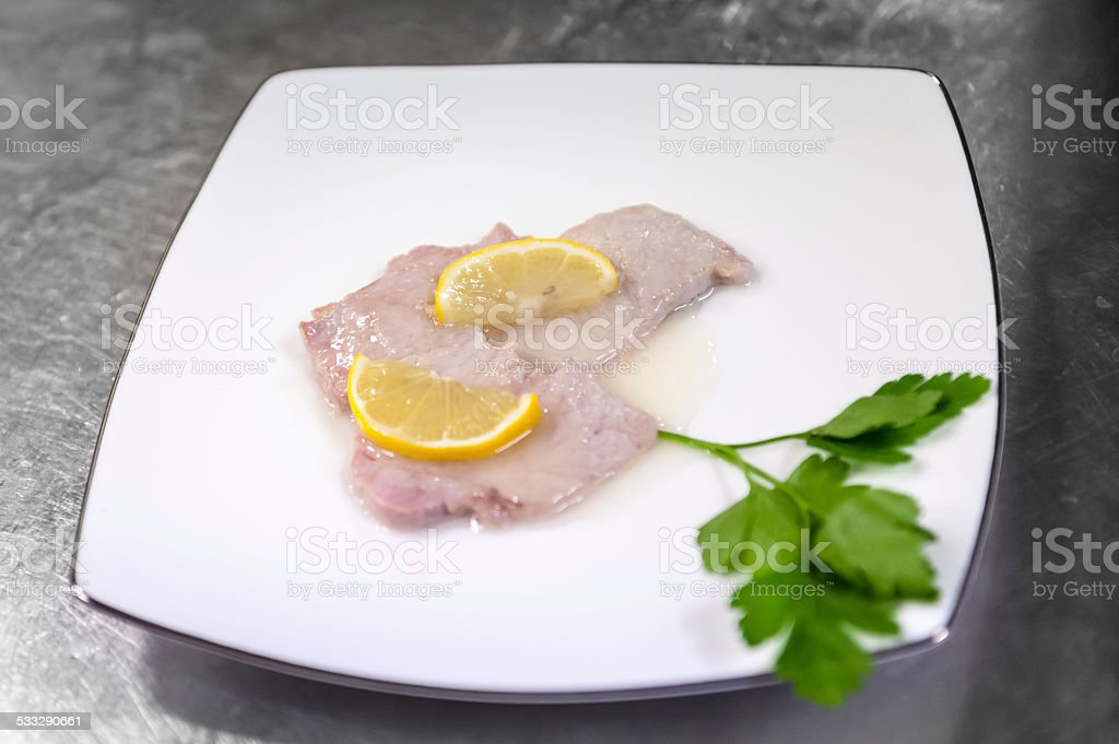 Lemon Escalop stock photo