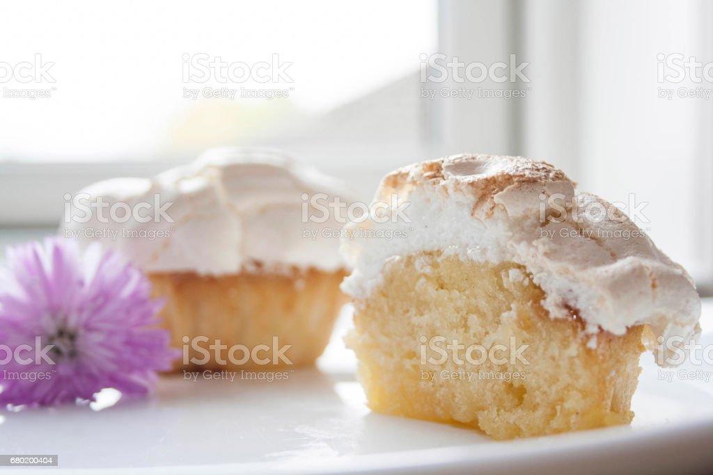 Lemon Filled Cupcakes stock photo