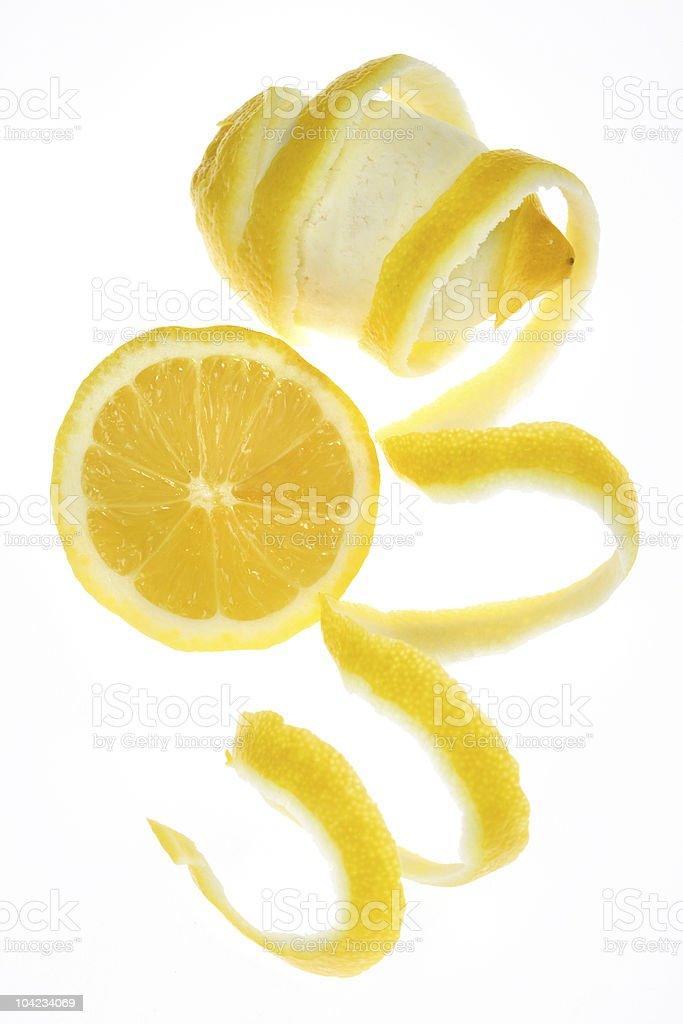 Lemon fruit isolated on white royalty-free stock photo