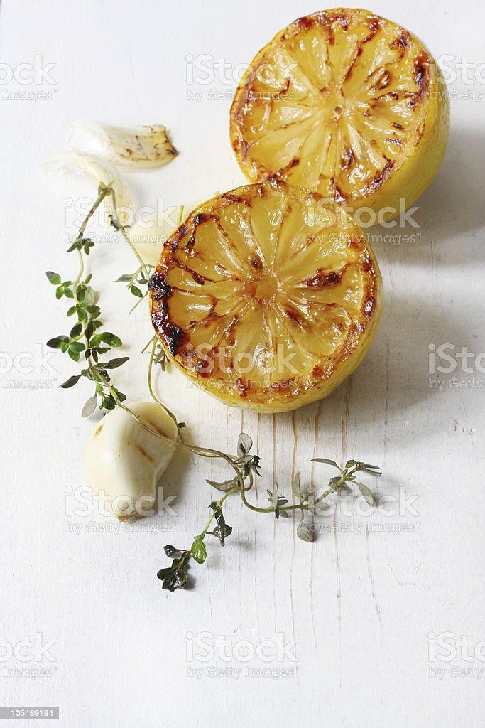 Lemon Garlic and Thyme royalty-free stock photo